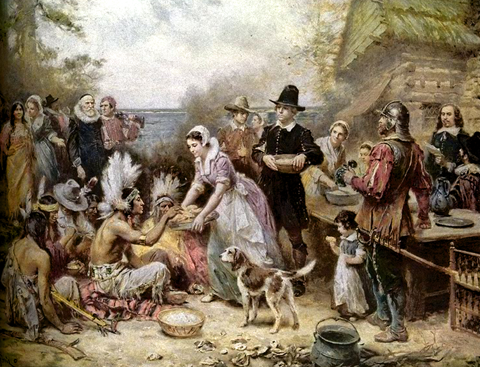 The First Thanksgiving Jean Louis Gerome Ferris480