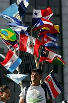 Immigration Boycott Day Flags