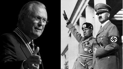 Rumsfeld Hitler