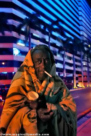 Sin hogar en Miami