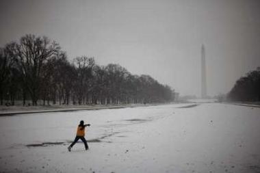 Nieve en el Monumento Washington, Reuters