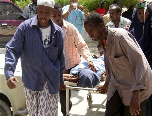 Somalia mujer herida